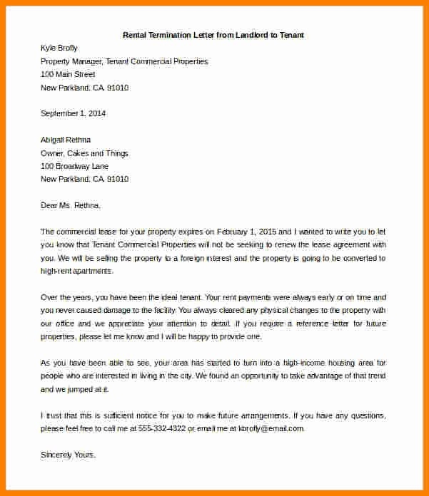 Friendly Rent Increase Letter New 5 End Of Lease Letter to Tenant From Landlord