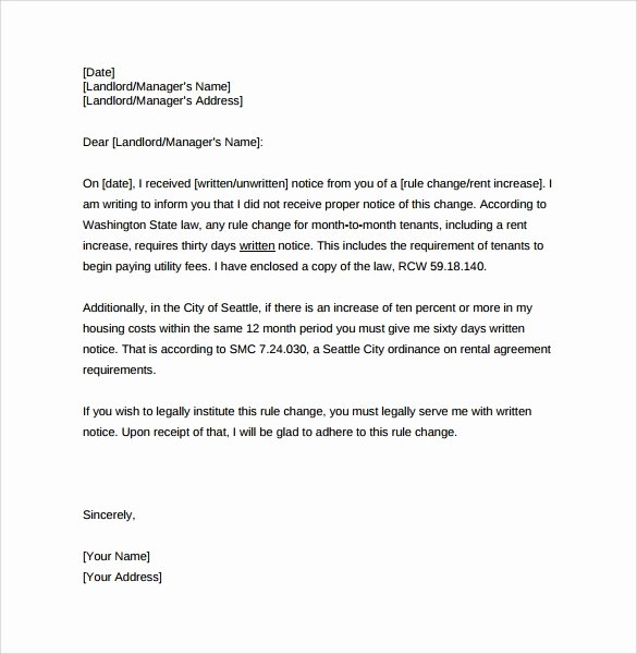 Friendly Rent Increase Letter New 9 Sample Rent Increase Letter Templates Pdf Word