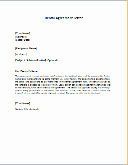 Friendly Rent Increase Letter New Rental Agreement Letter Template
