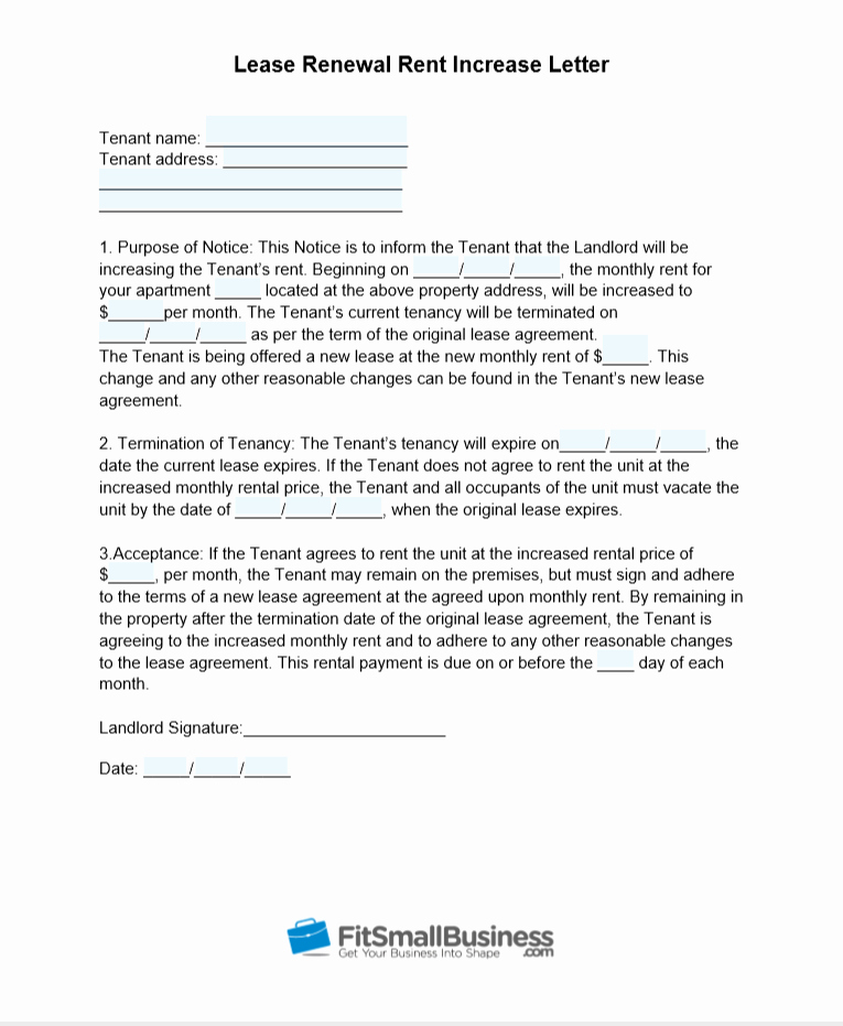 Friendly Rent Increase Letter Unique Sample Rent Increase Letter [ Free Templates]
