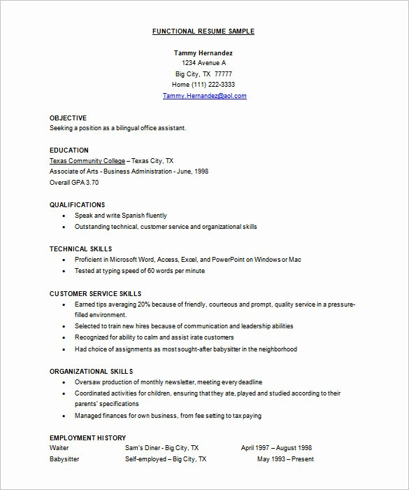Functional Resume Template Word Best Of Resume Template – 92 Free Word Excel Pdf Psd format