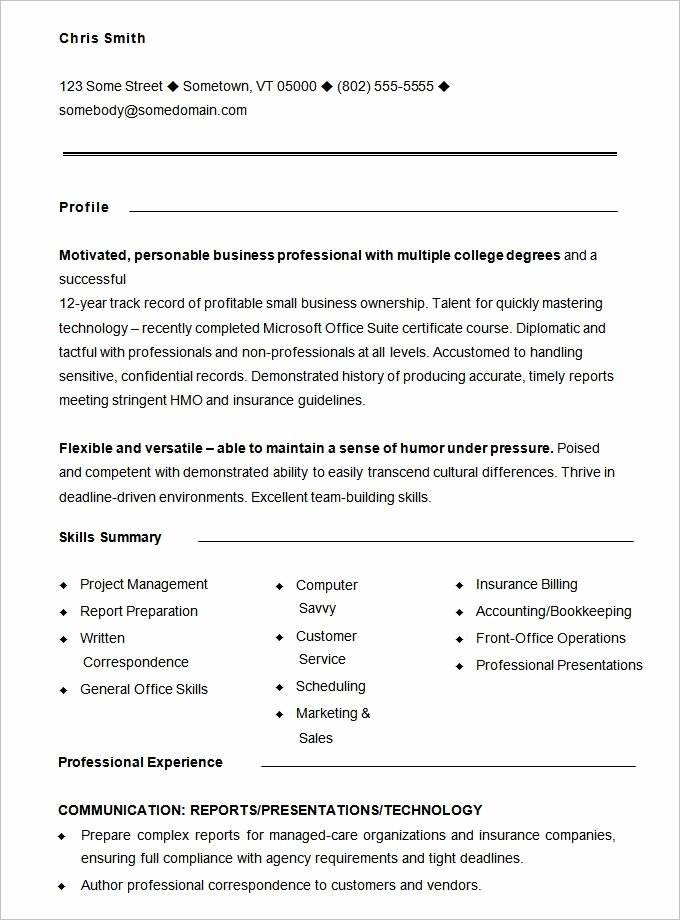 Functional Resume Template Word Fresh 10 Functional Resume Templates