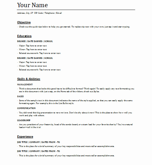 Functional Resume Template Word Luxury 5 Functional Resume Templates