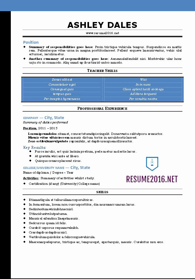 Functional Resume Template Word Unique Word Resume Templates 2016