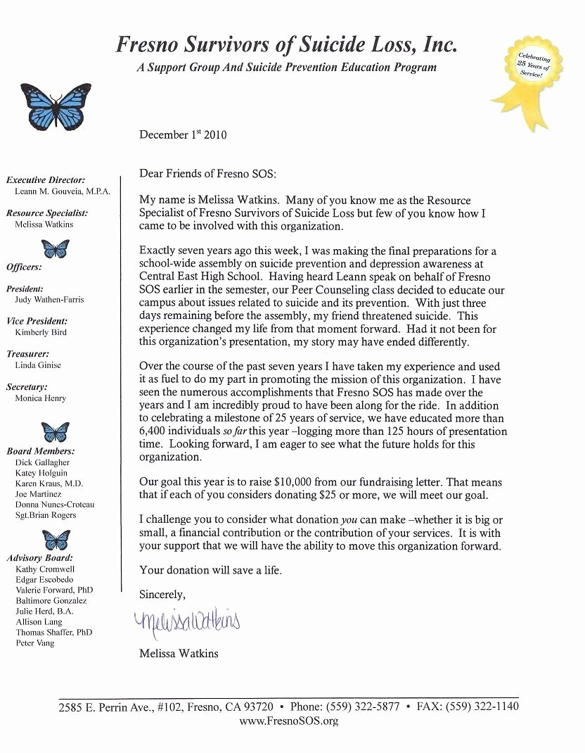 Fund Raising Letter Templates Beautiful Annual Fundraising Letter Fresnosos