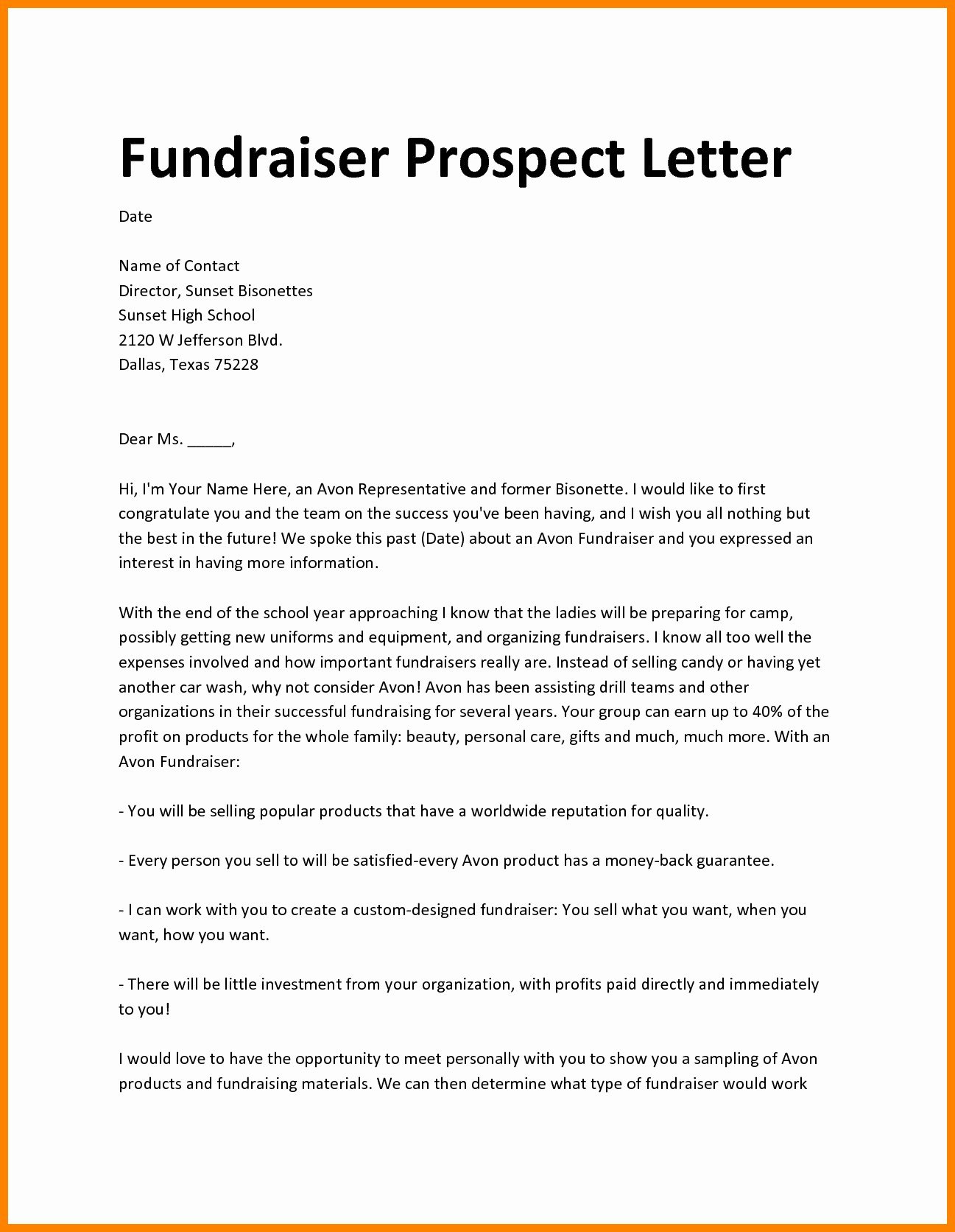 fundraiser proposal template pics