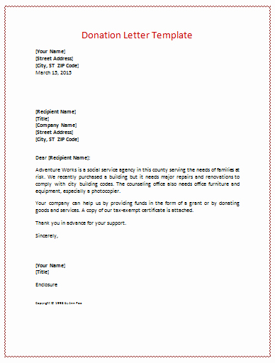 Fund Raising Letter Templates Luxury Donation Letter Templates for Fundraising Free Examples