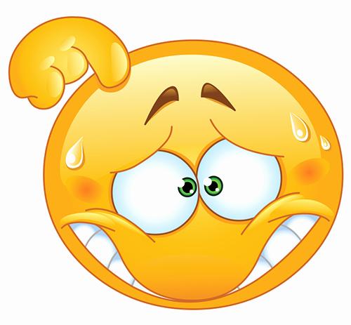 Funny Emoji Copy and Paste Unique Embarrassed Smiley