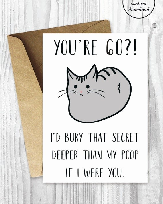 Funny Printable Birthday Cards Awesome Funny 60th Birthday Cards Printable Cat 60 Birthday Card
