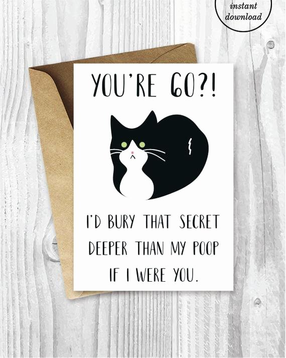 Funny Printable Birthday Cards Awesome Printable 60th Birthday Cards Funny Tuxedo Cat 60 Birthday