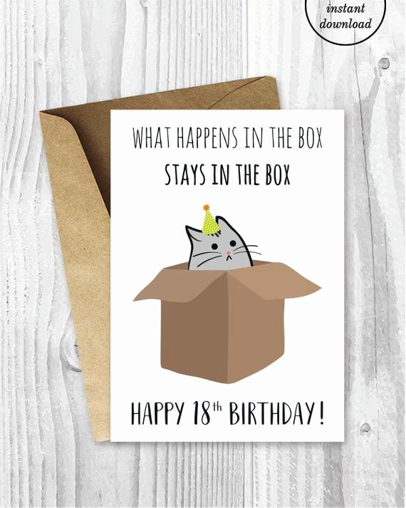Funny Printable Birthday Cards Best Of 18th Birthday Printable Cards Funny 18th Birthday Cards