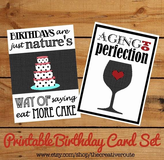 Funny Printable Birthday Cards Best Of Printable Birthday Cards Funny Birthday Quotes On A Set Of