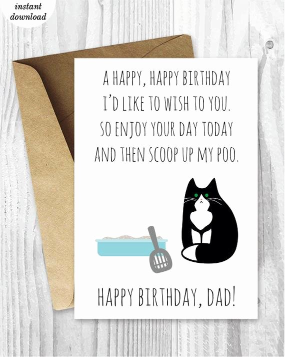 Funny Printable Birthday Cards Best Of Printable Funny Birthday Cards Black and White Cat Cards Cat
