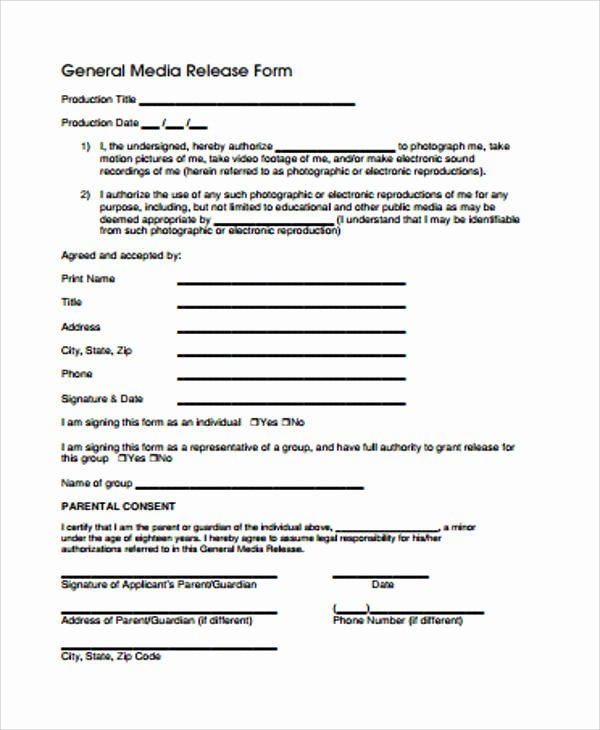 General Release form Template Awesome General Release form Sample 8 Examples In Word Pdf