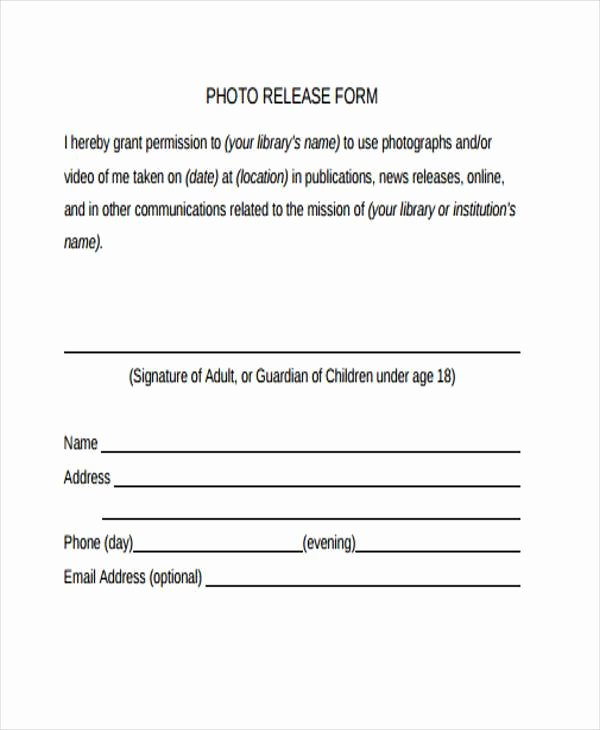 General Release form Template Elegant Free 38 Release form Templates