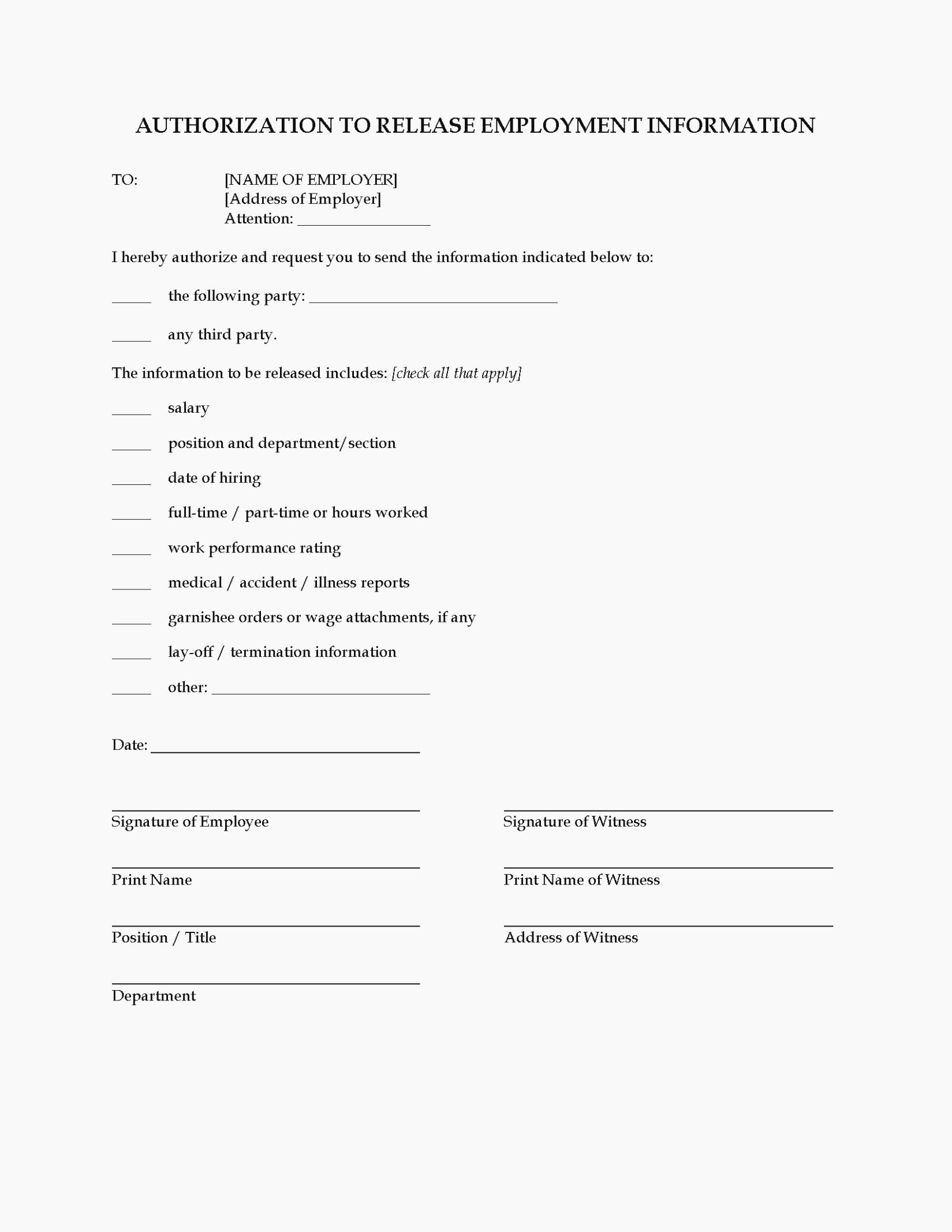 General Release form Template Inspirational 14 General Release