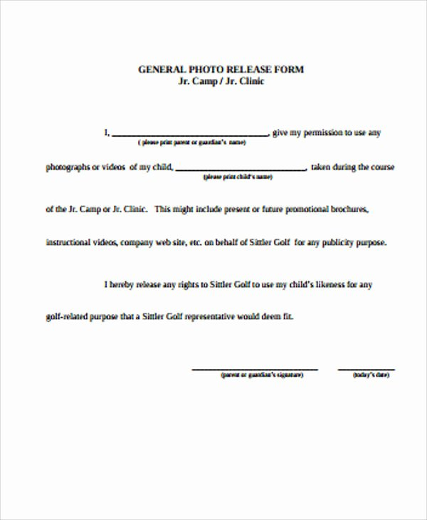 General Release form Template Unique General Release form Sample 8 Examples In Word Pdf