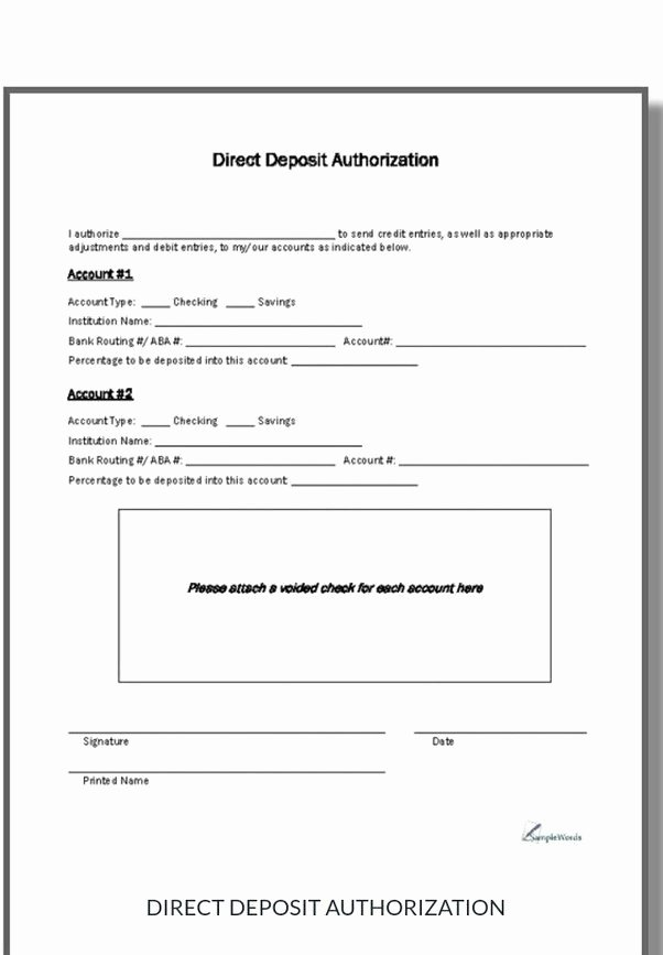 Generic Direct Deposit form New What are the Different Types Of Direct Deposit Quora