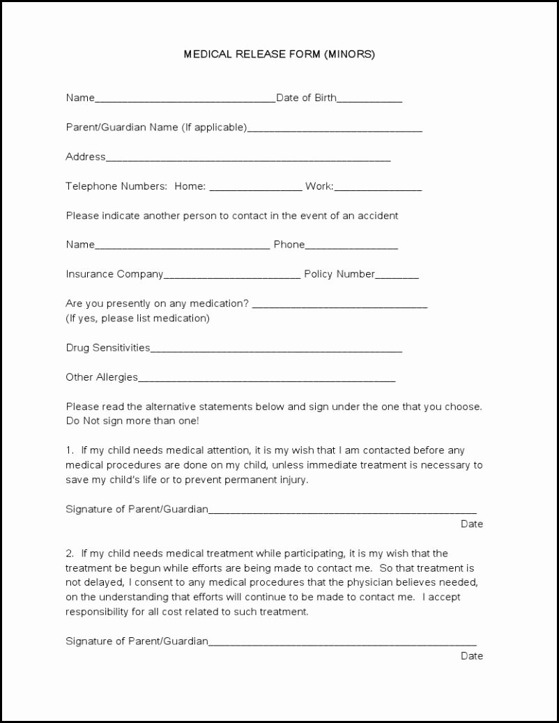 Generic Medical Records Release form Inspirational Medical forms Tru Dimensions Printing