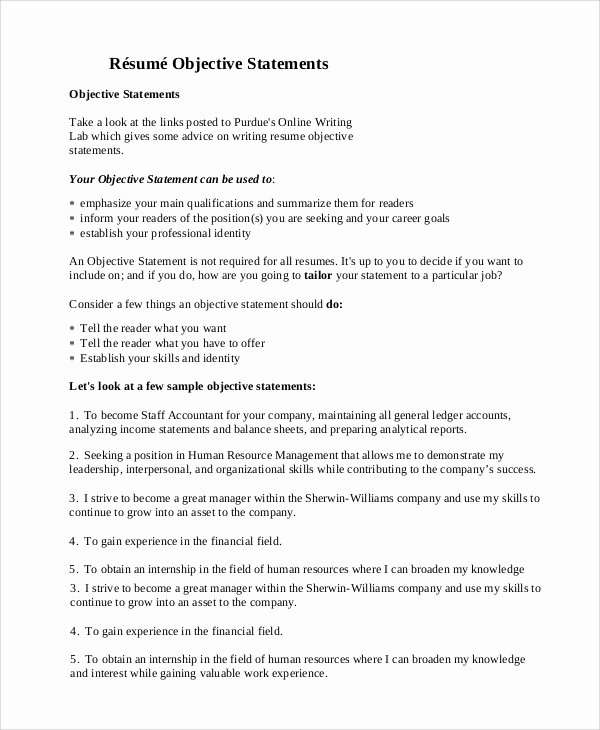 Generic Objective for Resume Awesome General Resume Objective Sample 9 Examples In Pdf