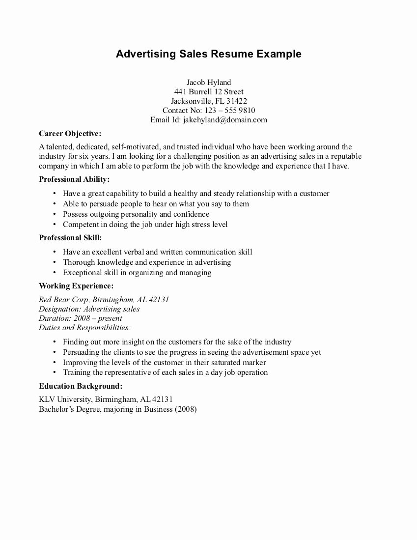 Generic Objective for Resume Best Of Pin by Resume Objectives On Advertising Resume Objectives