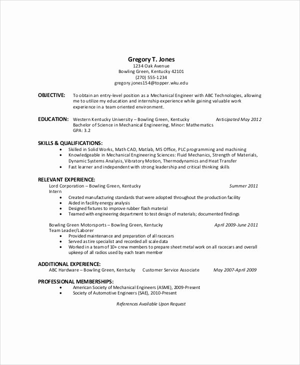 Generic Objective for Resume Best Of Sample General Resume Objective 5 Documents In Pdf