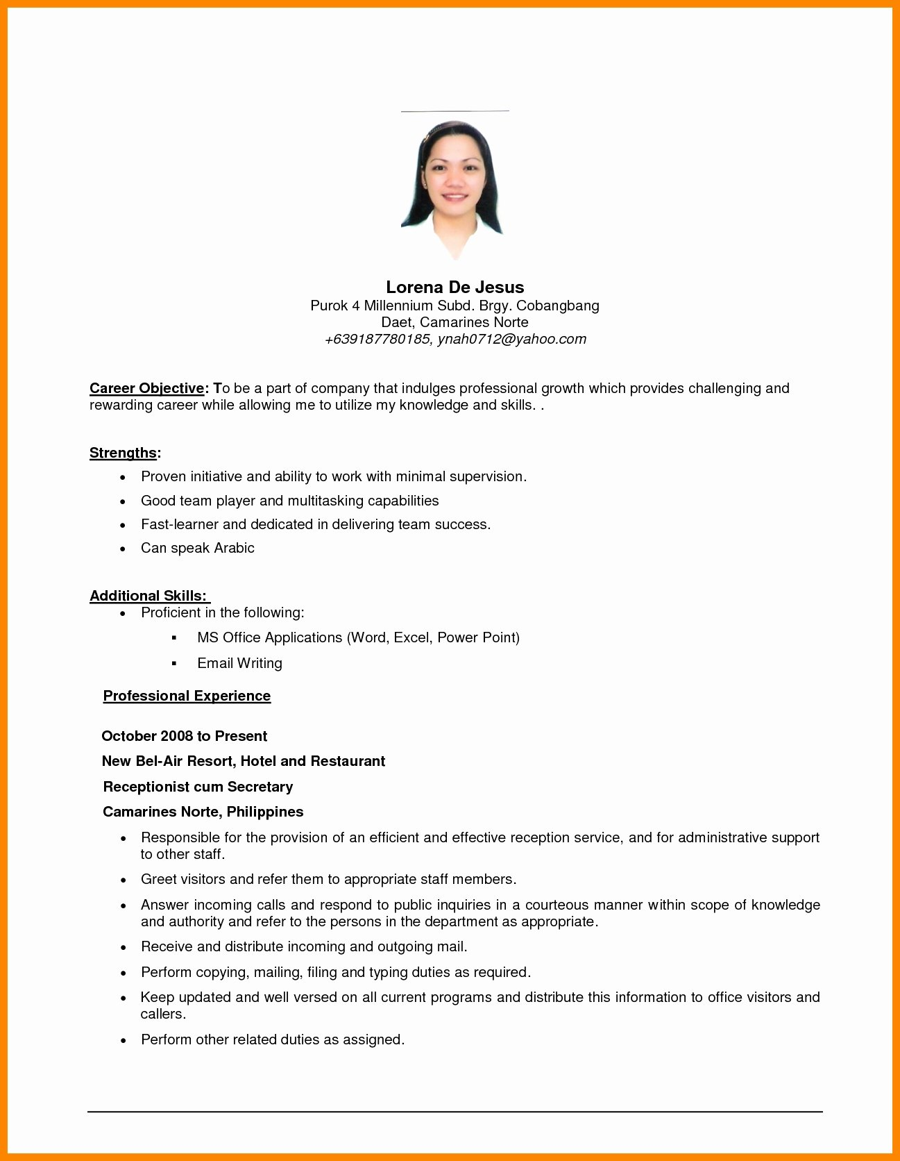 Generic Objective for Resume Inspirational General Resume Objective Examples