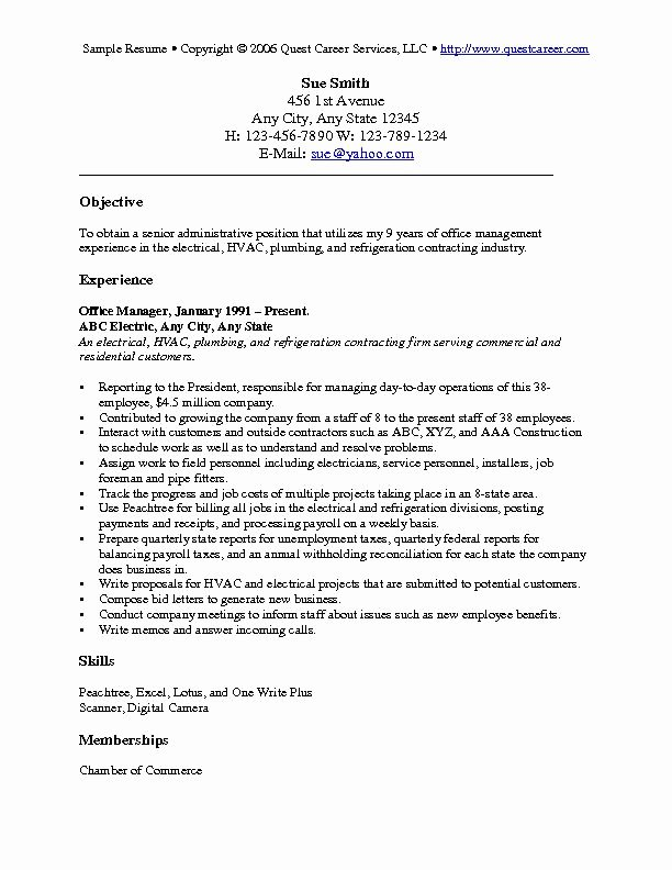 Generic Objective for Resume Inspirational Resume Objective Examples Resume Cv