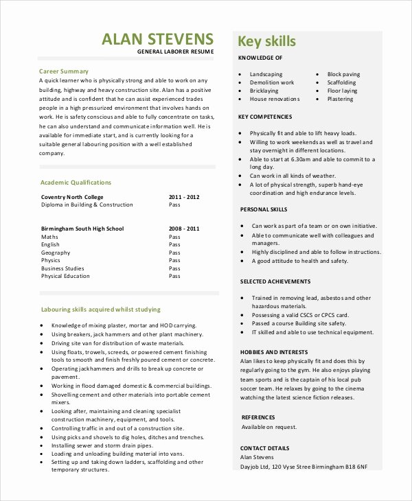 Generic Objective for Resume New General Resume Objective Sample 9 Examples In Pdf