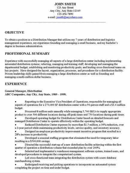 Generic Objective for Resume Unique Examples Resume General Objectives