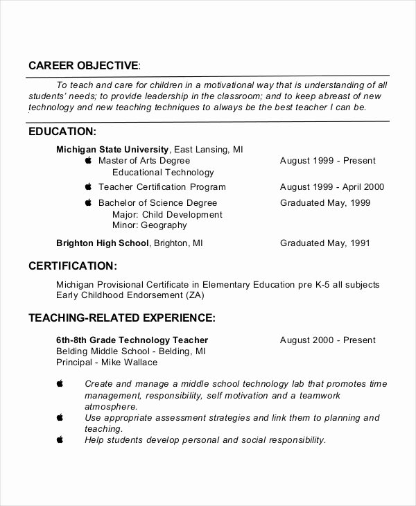 Generic Objective for Resume Unique Generic Resume Template 28 Free Word Pdf Documents