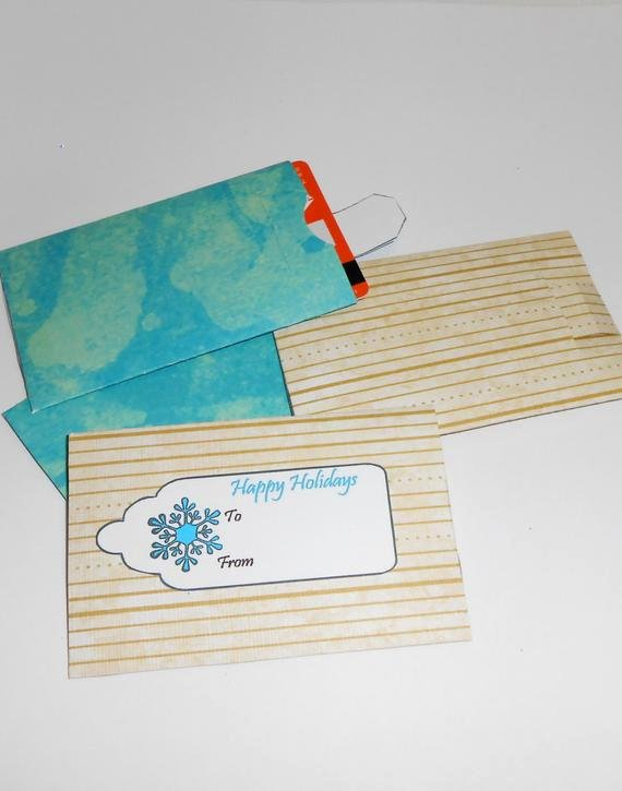 Gift Card Envelope Template Fresh Items Similar to Diy Gift Card Envelopes Gift Card