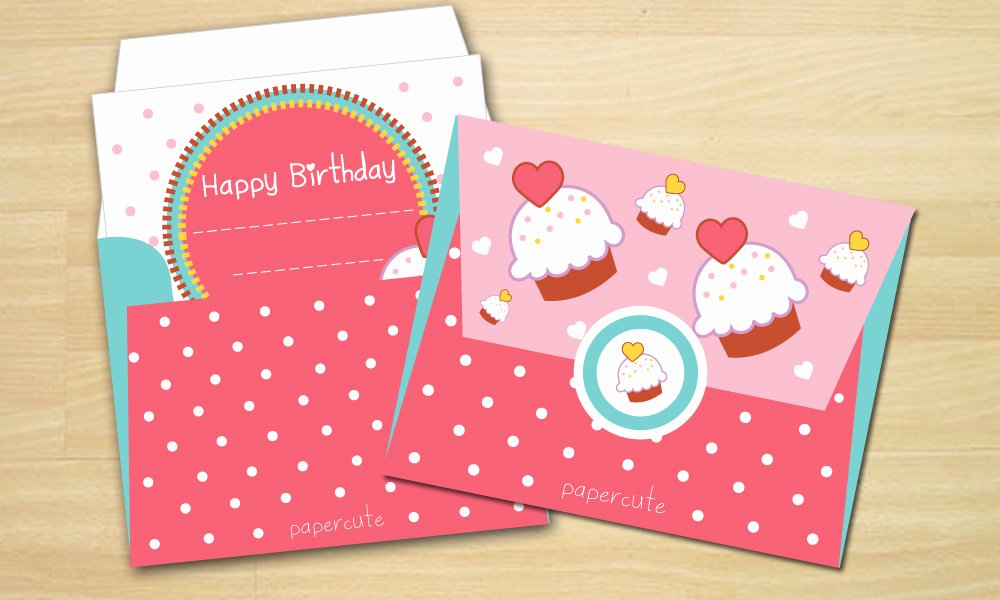 Gift Card Envelope Template Lovely Envelope Sweet Cupcake Card Templates On Creative Market