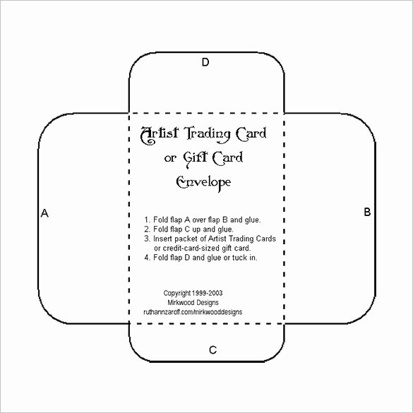 Gift Card Envelope Template Unique Download Microsoft Word Square Envelope Template Free