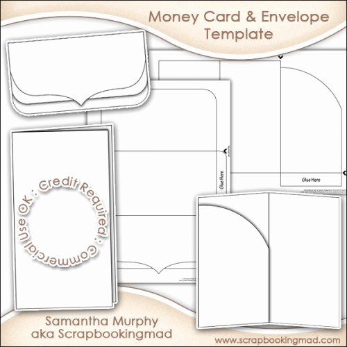 Gift Card Envelope Template Unique Money Gift Card & Envelope Template Mercial Use £3 50