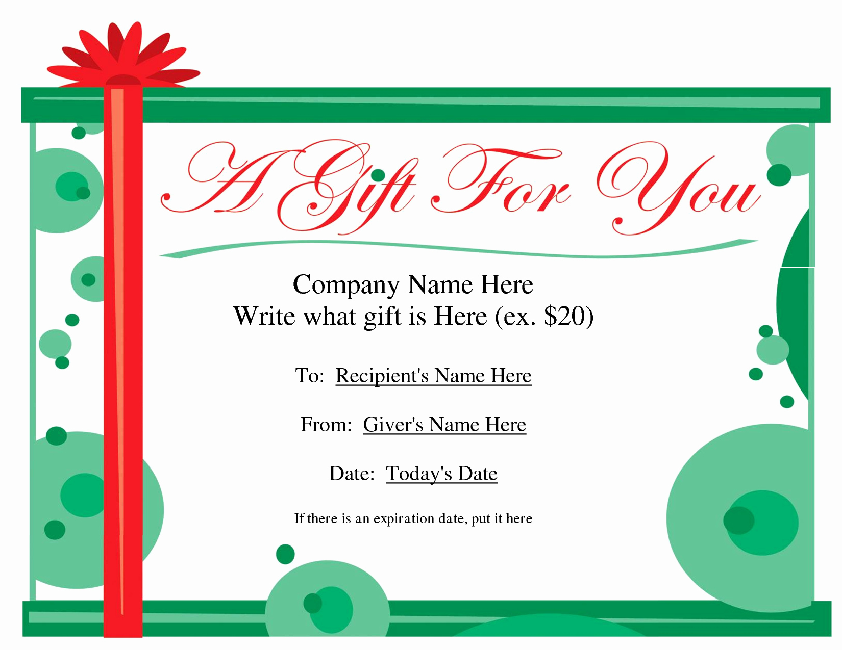 Gift Certificate Template Pages Awesome Free Printable Gift Certificate Template