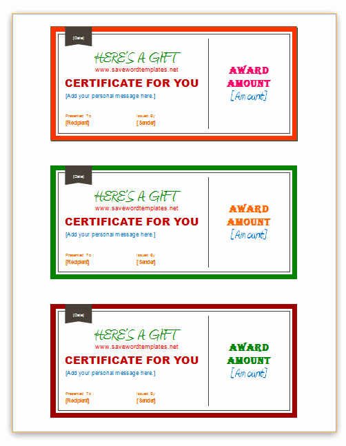 Gift Certificate Template Pages Elegant 3 Per Pages Gift Certificate Templates