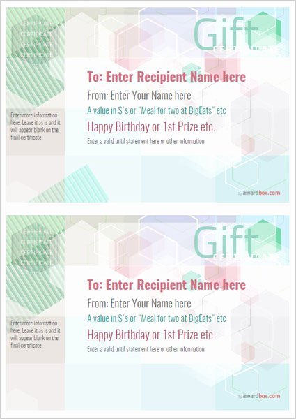 Gift Certificate Template Pages Elegant Free Printable Gift Certificate Template Designs for Home