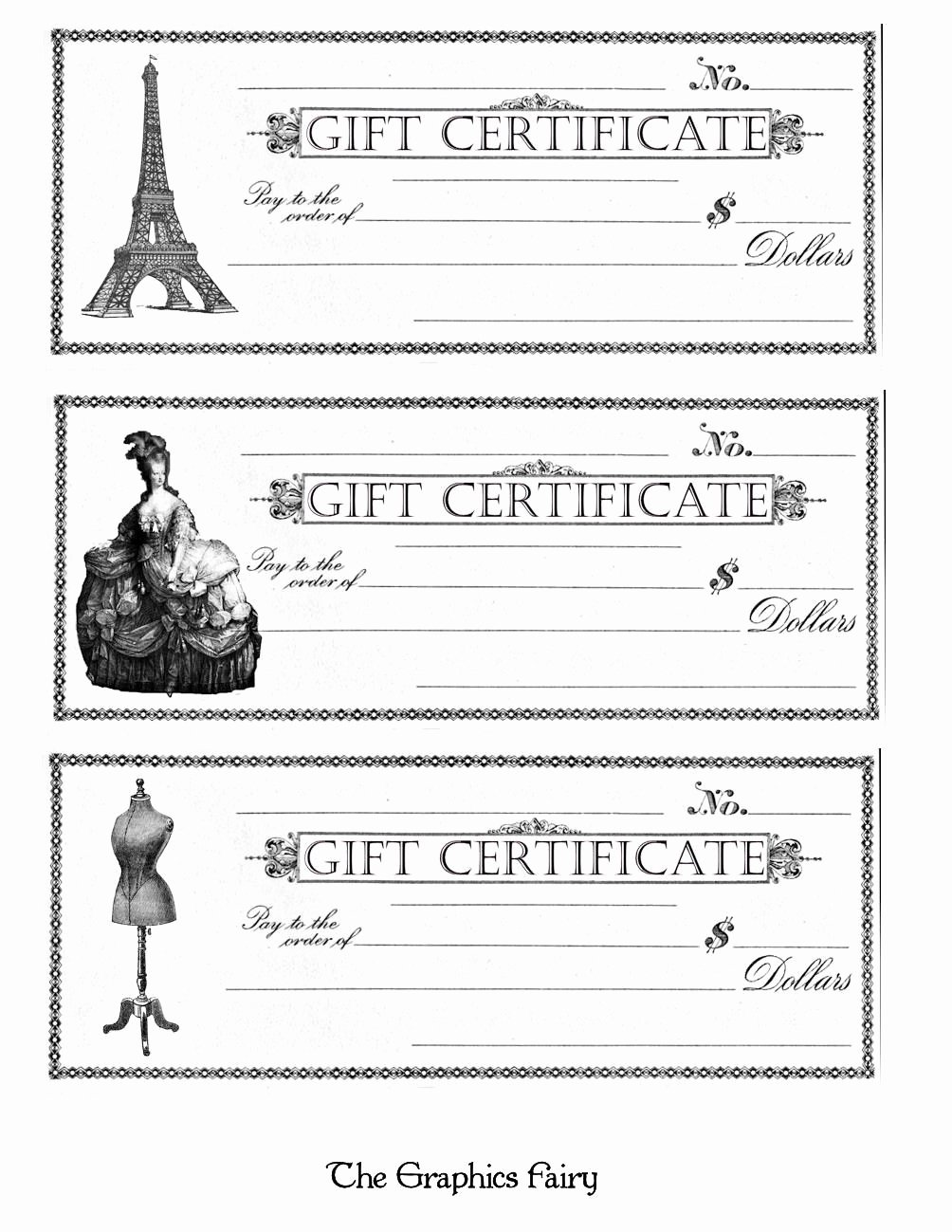 Gift Certificate Template Pages Fresh Free Printable Gift Certificates the Graphics Fairy