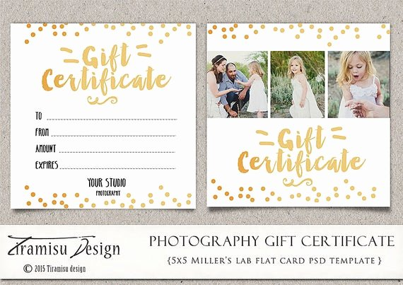 Gift Certificate Template Pages Fresh Graphy Gift Certificate Photoshop 5x5 Card Template