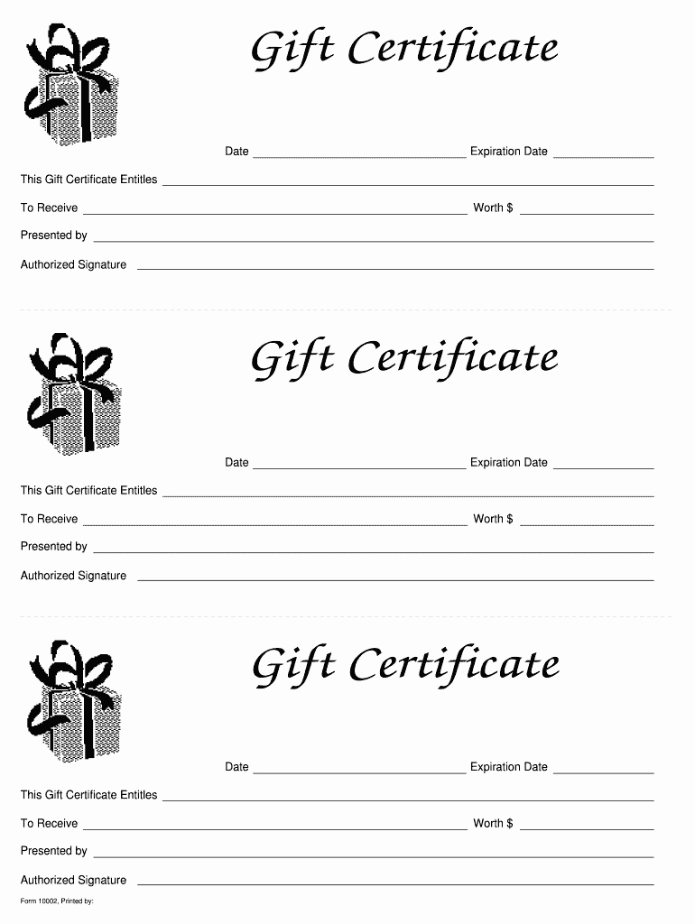 Gift Certificate Template Pages Inspirational Gift Certificate Template Free Fill Line Printable