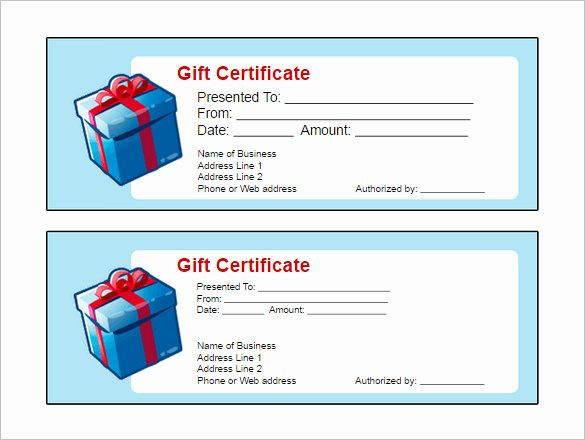 Gift Certificate Template Pages Inspirational Gift Certificate Templates Word Excel formats
