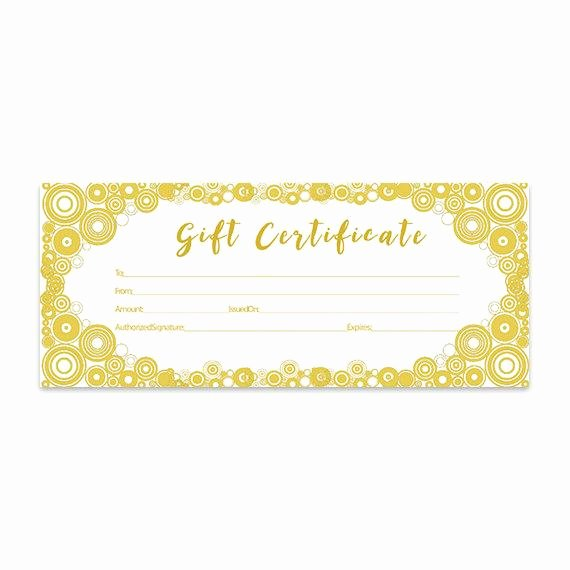 Gift Certificate Template Pages Lovely Gold Glitter Confetti Gold Circle Gift Certificate