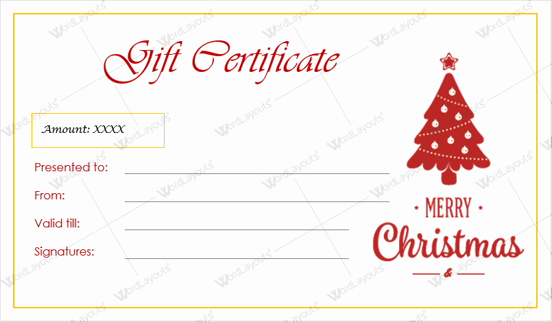 Gift Certificate Template Pages Luxury 12 Beautiful Christmas Gift Certificate Templates for Word