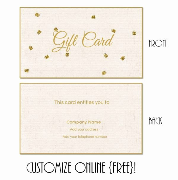 Gift Certificate Template Pages Luxury Free Printable T Card Templates that Can Be Customized