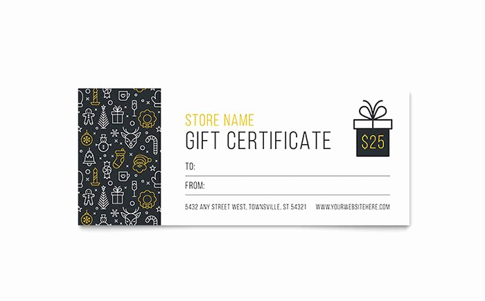 Gift Certificate Template Pages Unique Christmas Wishes Gift Certificate Template Design