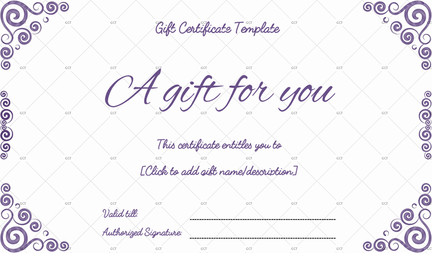 Gift Certificate Template Pages Unique Sna Rounds Gift Certificate Template for Word