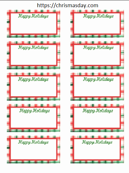 Gift Tag Template Word Lovely Free Editable Christmas Labels