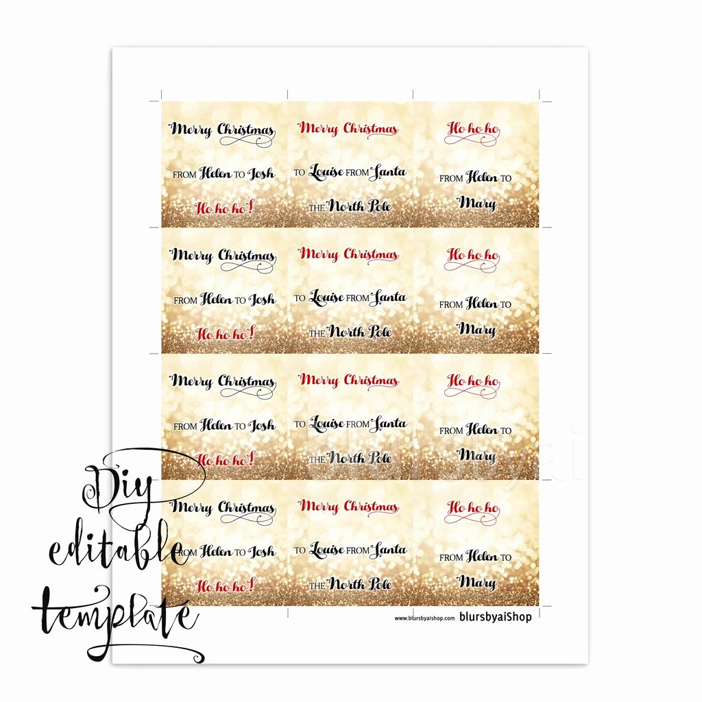 Gift Tag Template Word Luxury Printable Christmas T Tags Template for Word Fully