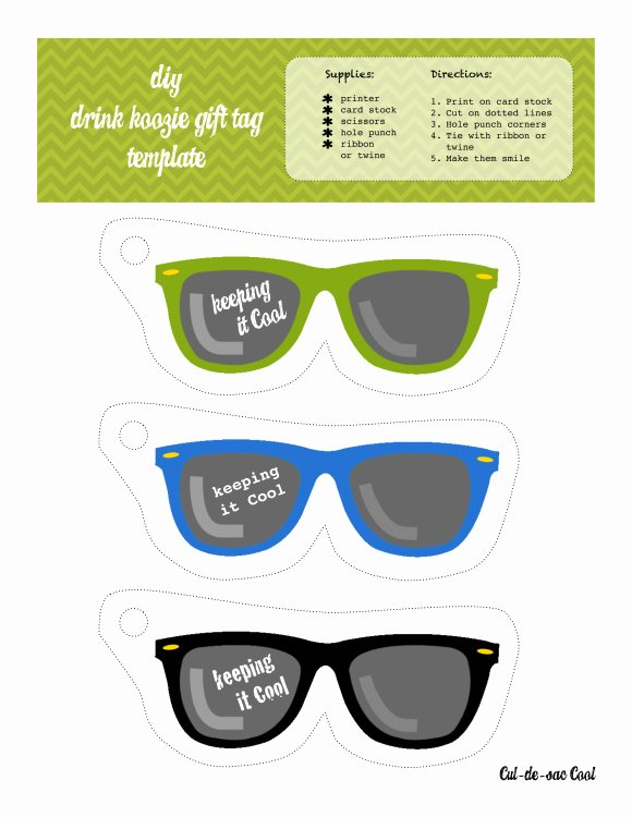 Gift Tag Template Word New Diy Drink Koozie and Printable Gift Tags